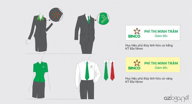 Thiết kế đồng phục công ty, huy hiệu công ty tư vấn du học BINCO