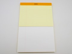 Rhodia Number 19 Yellow Lined Writing Pad Fountain Pen Friendly Paper Review 14
