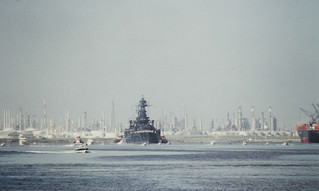BB-35 Returns to San Jacinto, July 26, 1990 e