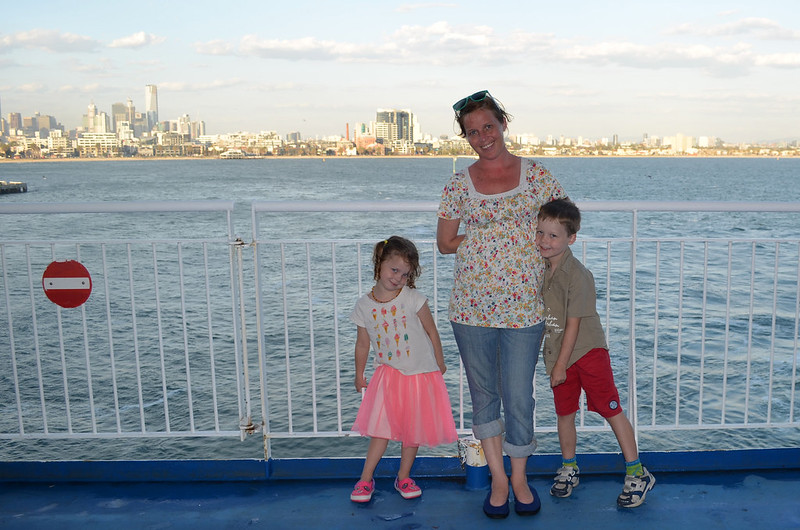 Lori & the kidlets on the Spirit of Tasmania