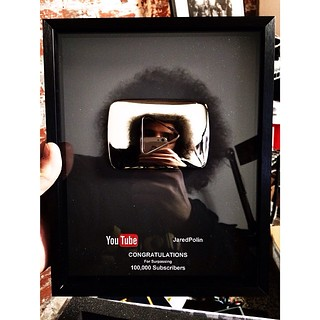 A little late as I am close to 300k but this is awesome!!!!  Next stop 1 million and a gold play button. #youtube