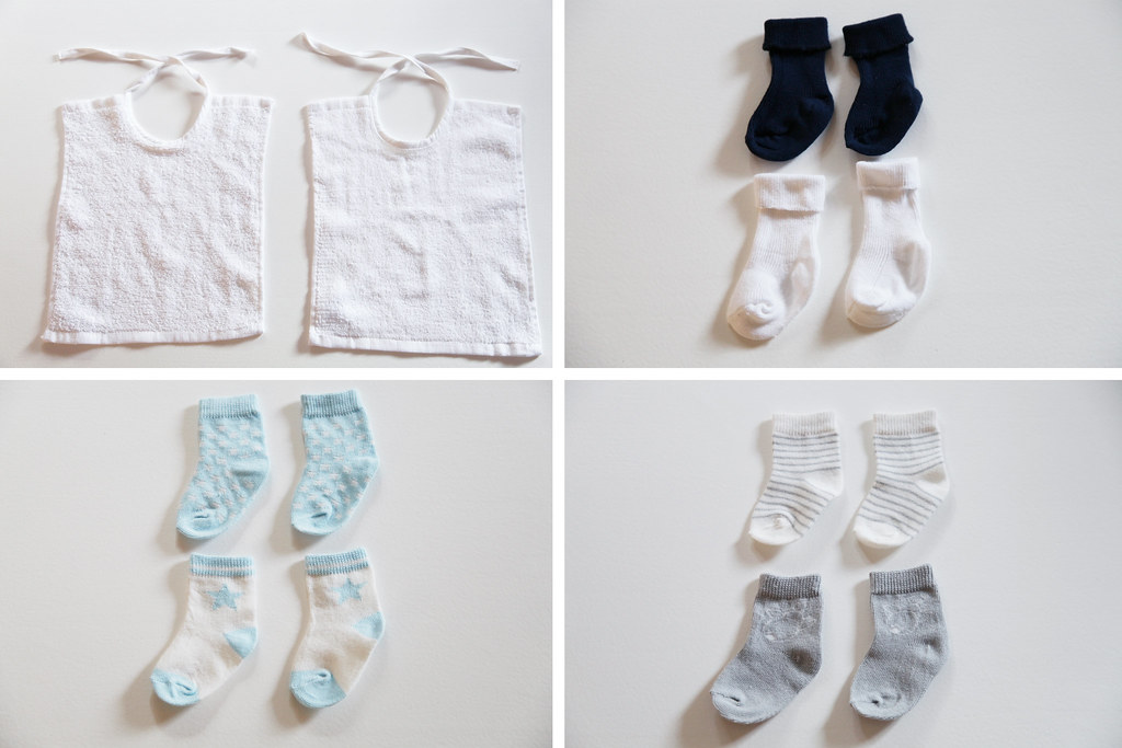 baby bibs socks boy gender neutral colors