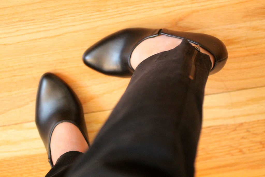 Shoes on the wooden floor