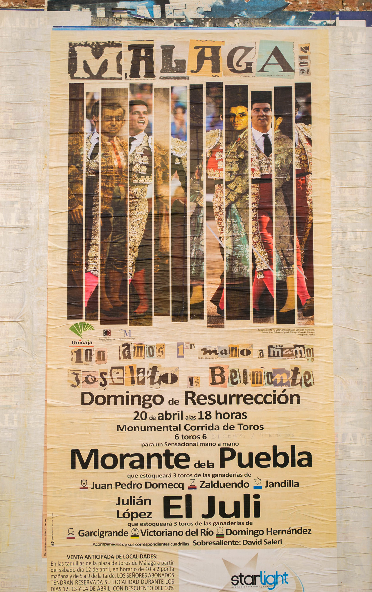 Poster on the Malaga Plaza de Torros