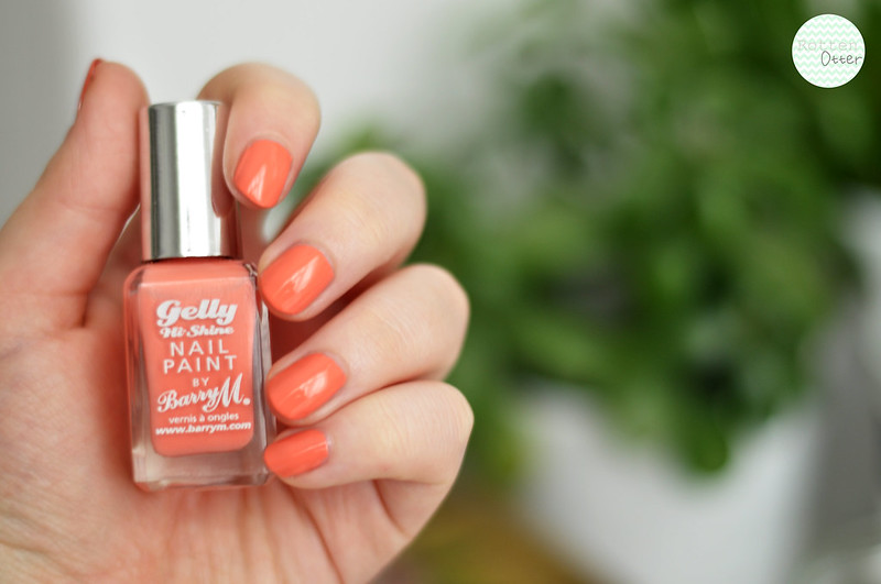 notd barry m gelly papaya nail polish rottenotter rotten otter blog