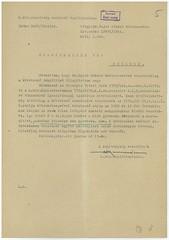 VI/3. Dr. Bajor Sándor zsidó orvos, hivatkozva édesapja 1919-ben Szamuelyék által történt kivégeztetéséért járó mentességére, kérelmezi nyolc hónapos terhes felesége mentesítését a gettóba vonulás alól.  mnljnszml6_2d