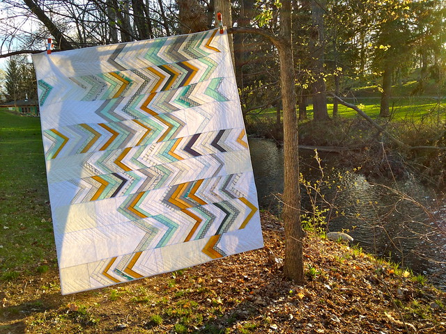 somewhat herringbone quilt