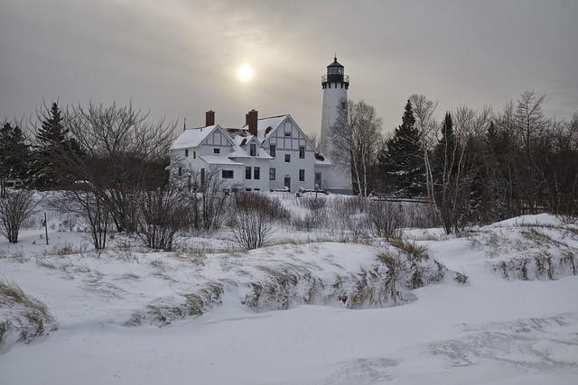 point iroquois lighthouse, chippewa county, michigan
