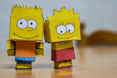 Bart and Lisa papercraft