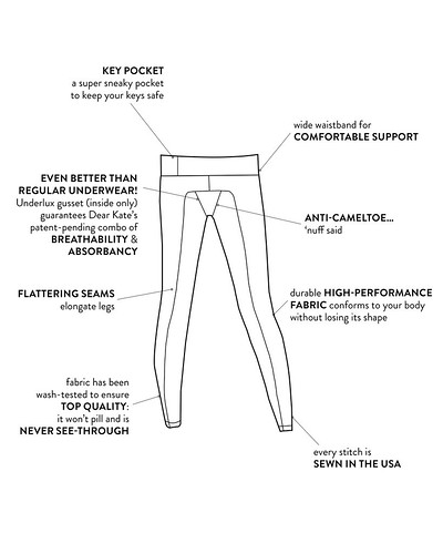 no more panty lines with dear kate yoga pants :: review – the ...