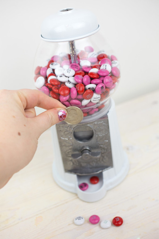 Personalized M&Ms in a Candy Machine