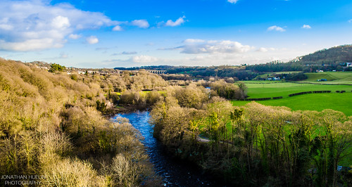 trees winter wales river countryside nikon view fields aquaduct d5100
