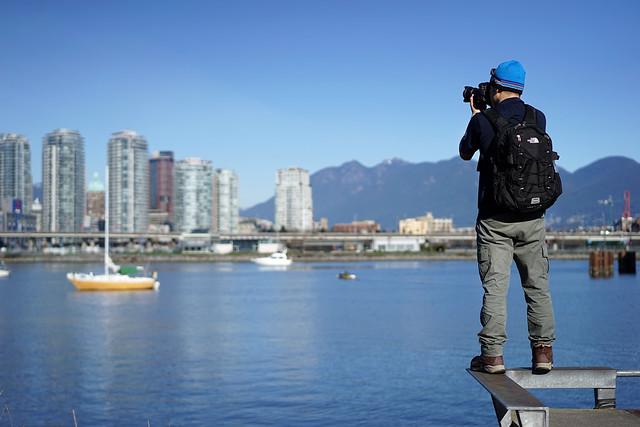 Tatsuya-san enjoys a spring day in Vancouver