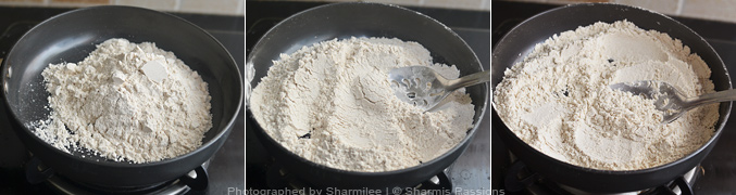 How to make Wheat idiyappam - Step1