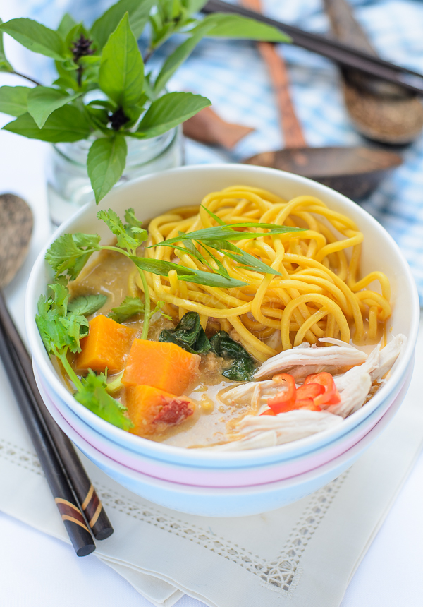 Noodle with Creamy Pumpkin Soup
