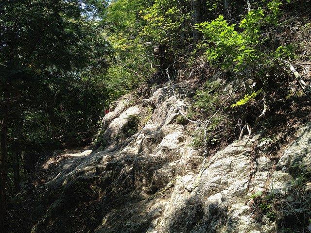 竜ヶ岳 鎖場