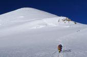 Skibesteigung Montblanc, 4810 m, mit Bergführer, Col Brenva. Foto: Günther Härter.