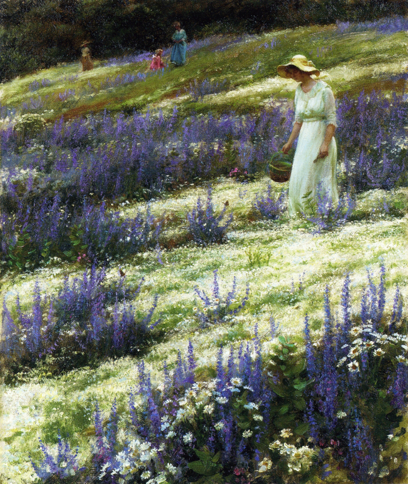 Ladies on a Hill by Charles Courtney Curran - 1914