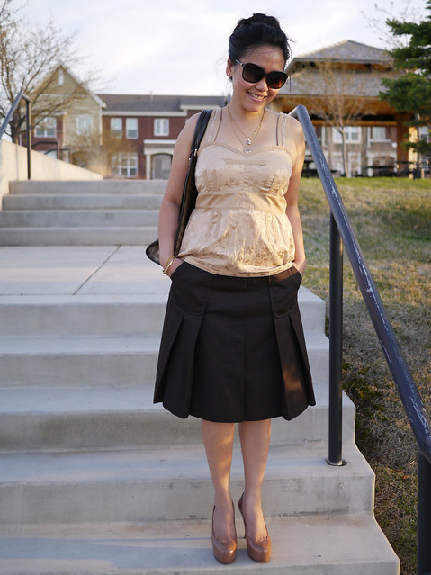 escada skirt - marc jacobs top - ysl tribtoo6