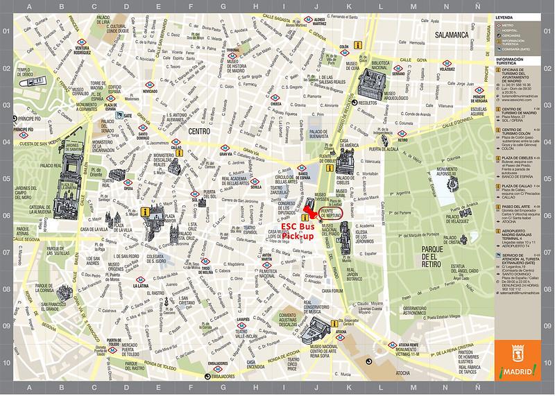 Mapa Turistico Centro Madrid