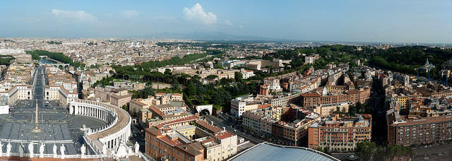 View from the cupola of San Pietro