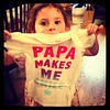 Avi loves her new shirt from Nana! #papalovesme #ilovemyfamily #mydaughter #myfamilyisthebest