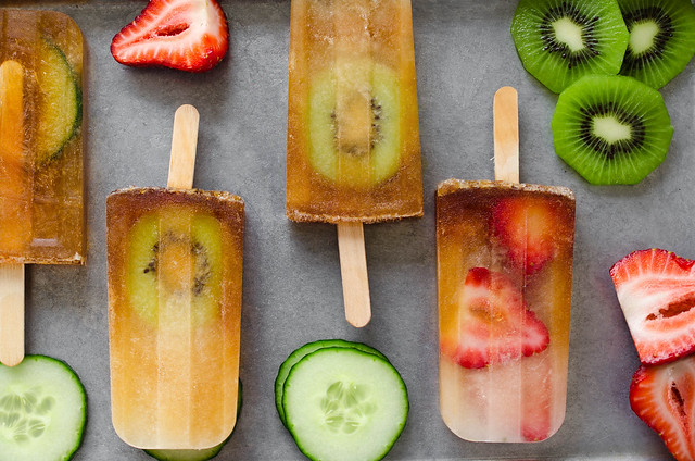 Pimmsicles - Classic British Pimm's Cup  Popsicles