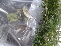 Bay leaves and rosemary