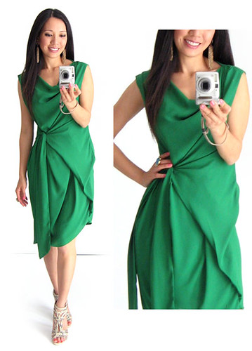 Beauties Closet Drape Green Dress