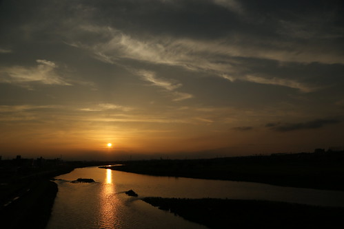 sunset cloud japan river 5dmk3