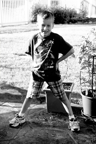 Nathan-by-bushes-bw