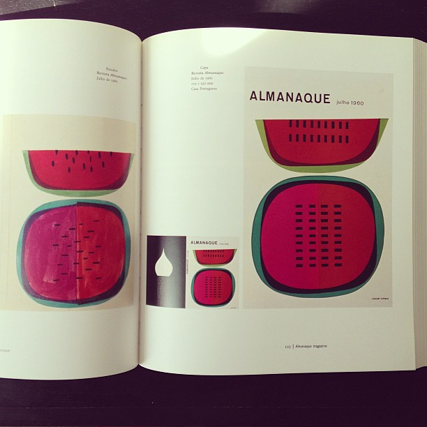 I'm never tired of Sebastião Rodrigues's work. This cover is 50 years and doesn't feel dated. #illustration #design #almanaque #portugal