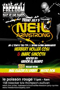 7/5 - Neil Armstrong X Freedom Party @ Le Poisson Rouge NYC