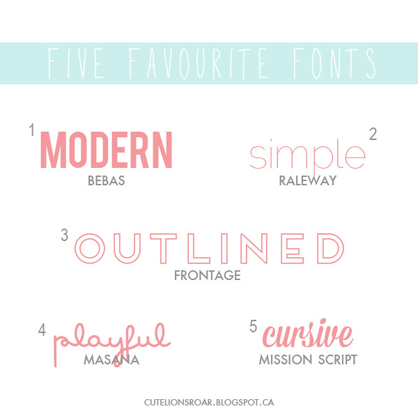 Font Love: Fav Fonts