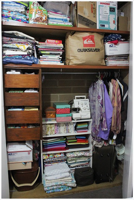 In the closet_fabric storage