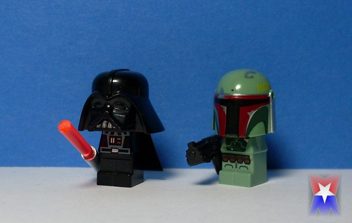 "Darth Vader & Boba Fett Microfig ""Bobble look"""