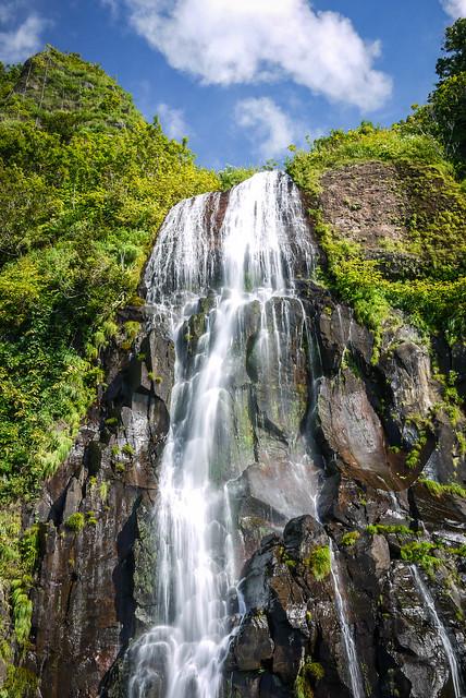 Waterfall near Hamamasu, Hokkaido, Japan