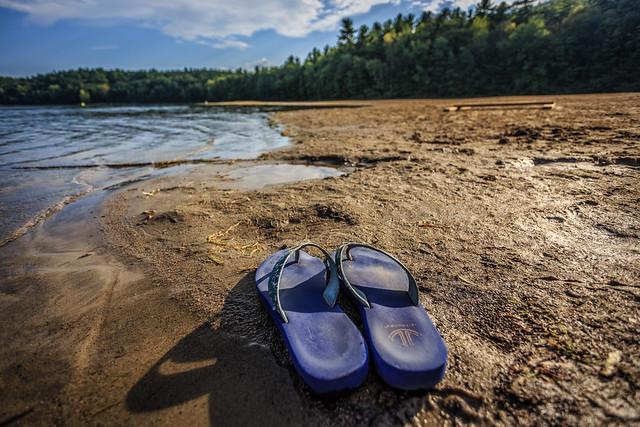 My Weathered Flip Flops at Moreau Lake