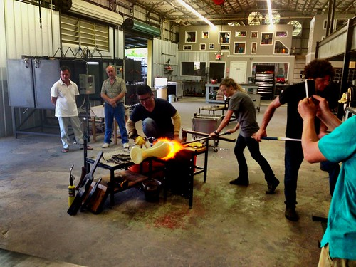 Oh yea! #Glass Blowing @DMGlassStPete #ArtWalkStPete #StPete #Art
