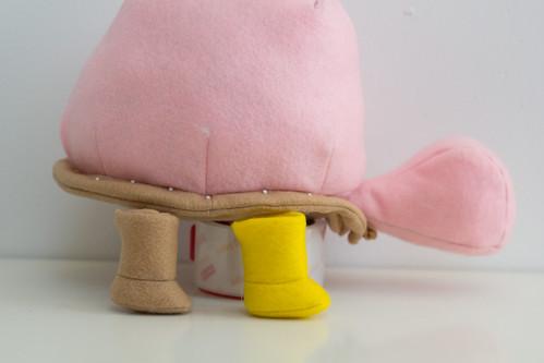 stuffed stuff: Mr. Pokeylope prototype
