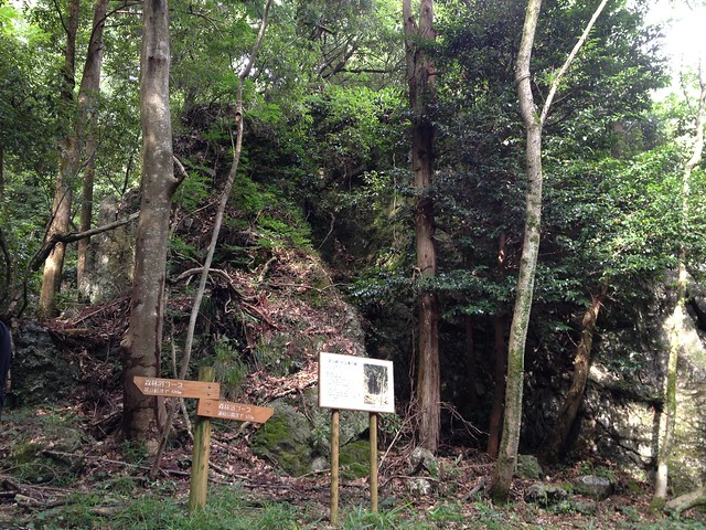 大谷山 森林浴コース 2つ岩