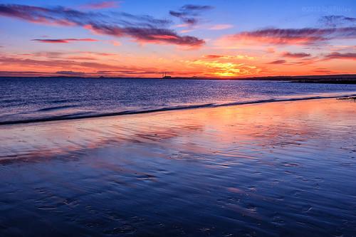 light sea orange seascape sunrise canon coast edinburgh portobello efs efs1022mm portobellobeach canon60d