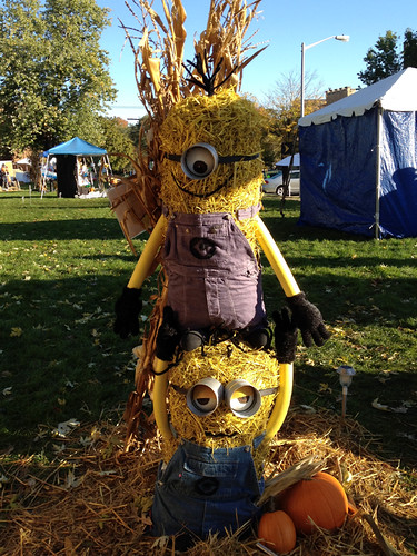 Despicable Me Minion Scarecrows
