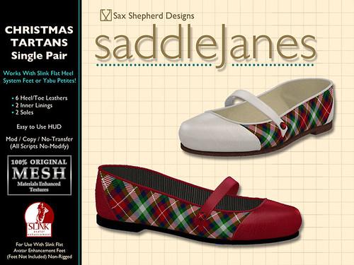 Saddle Janes - Special Edition Xmas Tartan
