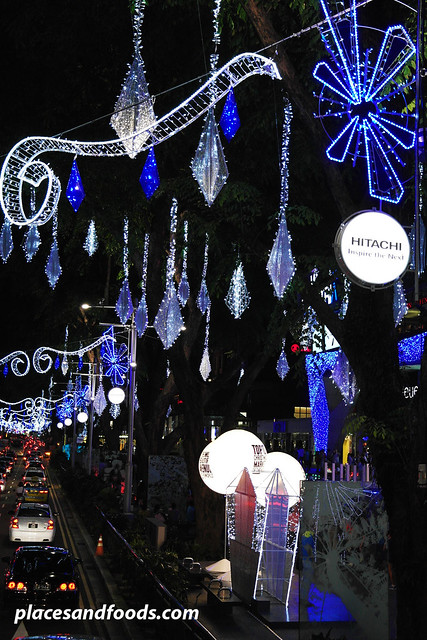 orchard road christmas lights 2013 hitachi poles