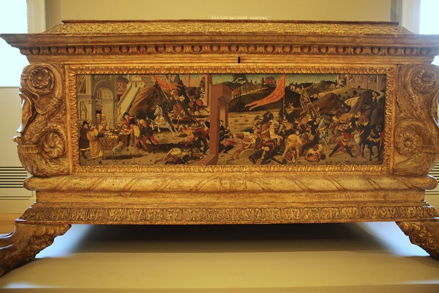 Biagio di Antonio, Jacopo del Sellaio, and Zanobi di Domenico - Morelli-Nerli Cassone L (1472) - frontal panel