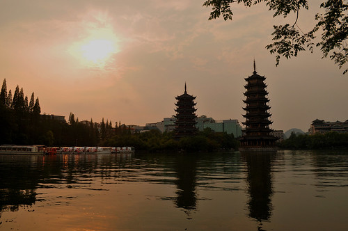 Sunset at Sun and Moon Pagoda