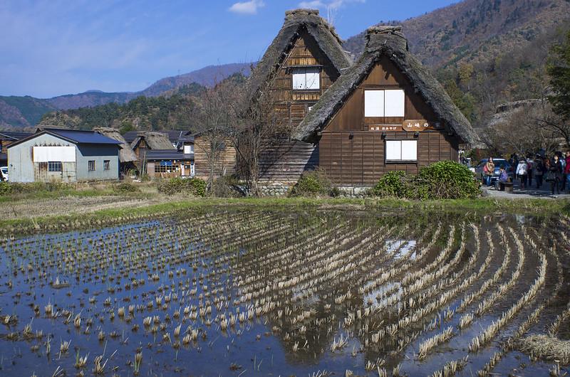秋遊日本上高地、合掌村