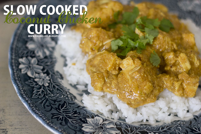 Slow cooked coconut chicken curry