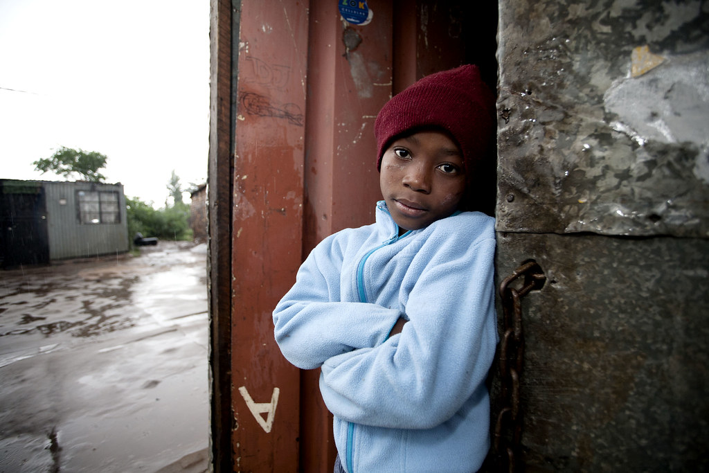 Soweto, South Africa: Tebogo, seven, and his mother are both HIV positive.